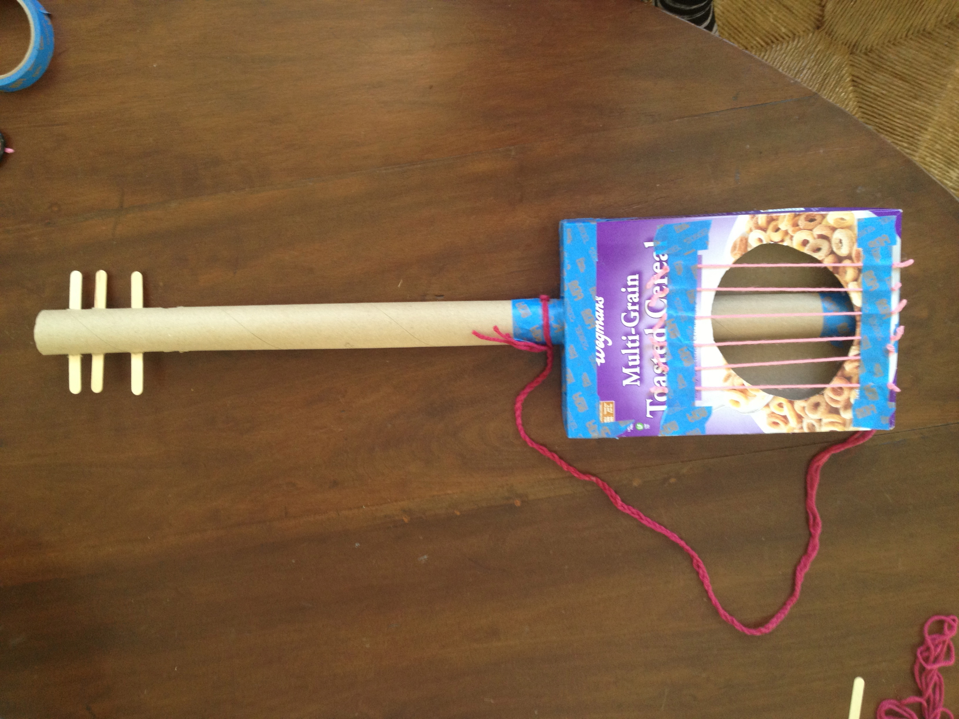 How to make a homemade guitar with cereal box homemade for How to make homemade items