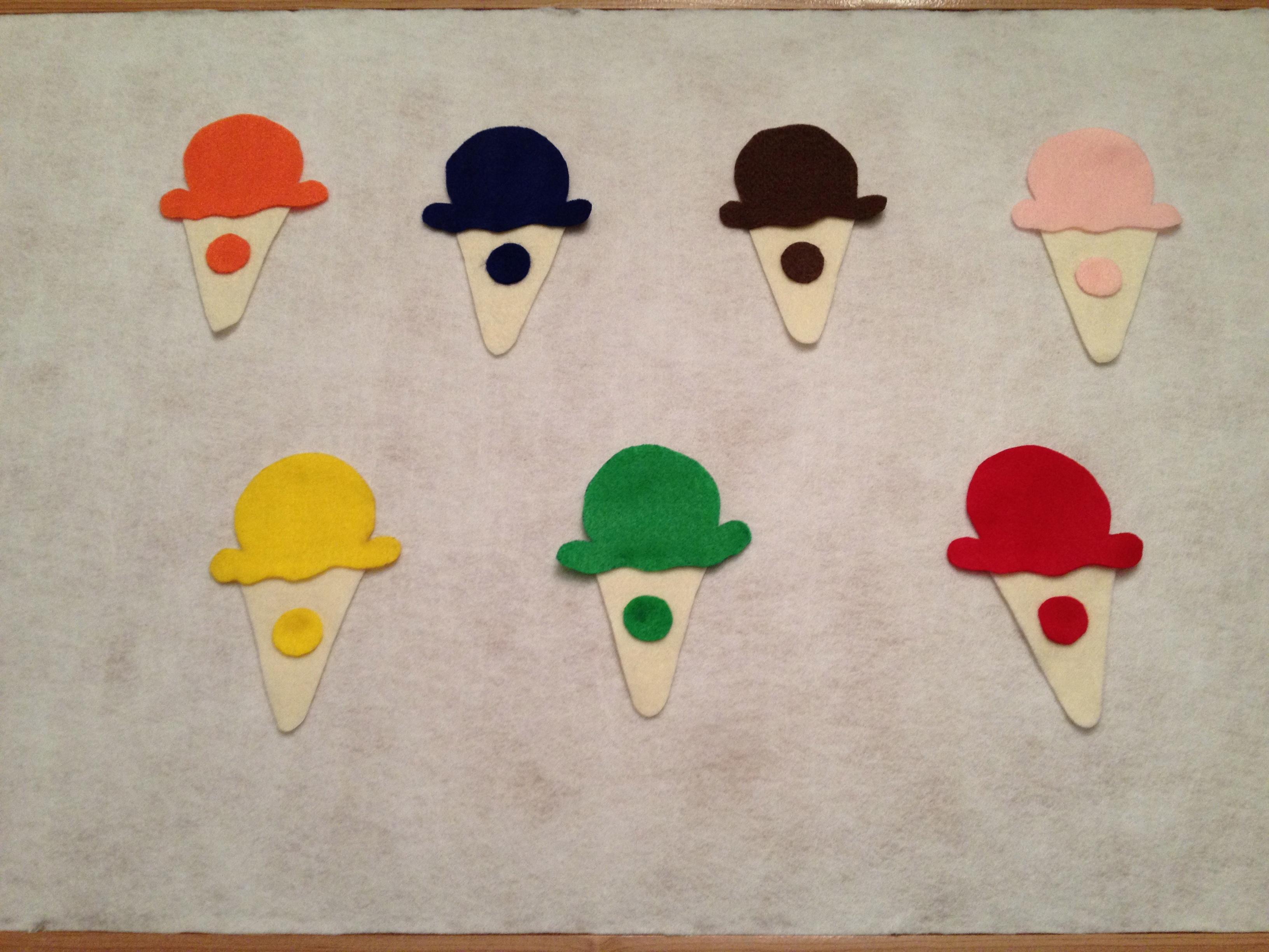 I came across this fabulous diy tutorial for a felt board and color matching game on mamma papa bubba i strayed from their felt board tutorial and